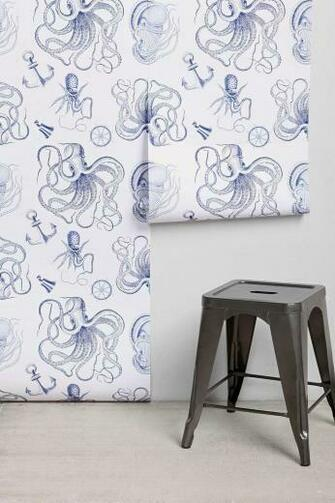 Walls Need Love Vintage Nautical Removable Wallpaper my son would sooo