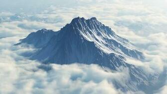 1366x768 Mount Olympus Aerial View desktop PC and Mac wallpaper