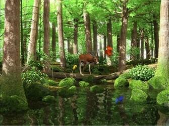 Spring Butterflies 3D Screensaver A deer drinking water from the