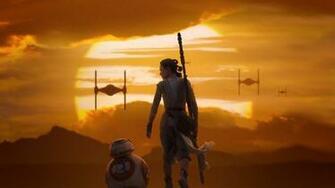 Rey BB 8 Star Wars The Force Awakens Wallpaper DESKTOP BACKGROUNDS