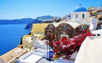 Pin by Karen Miller on Travels Greece wallpaper Santorini