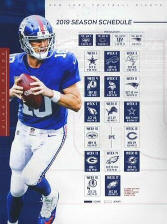 Giants Schedule New York Giants Giantscom
