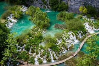 Plitvice Lakes National Park Croatia Background Wallpaper 27352