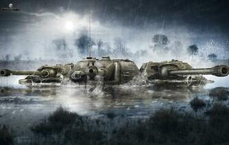 Wallpaper The sky Water Clouds Trees Rain WoT World of Tanks