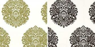 Vintage Damask Brocade Tapestry Fabric Background Texture Stock Photo
