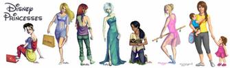 Disney Princesses   Modern day by Artzygrrl