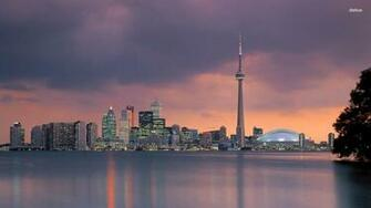 Toronto skyline wallpaper 1280x800 Toronto skyline wallpaper 1366x768