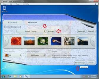 Windows 7 Desktop Background Wallpaper   Change in Windows 7 Starter