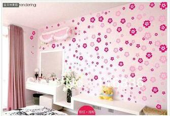 NEW Cheap Vinyl flowers wall stickers home decor removable wallpaper