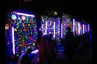 Wall Mural Decoration for Neon Blacklight Glow Party