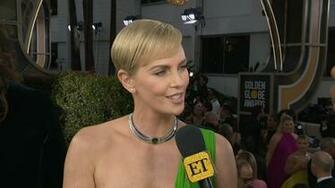Charlize Theron Slays 2020 Golden Globes Red Carpet in Sexy One