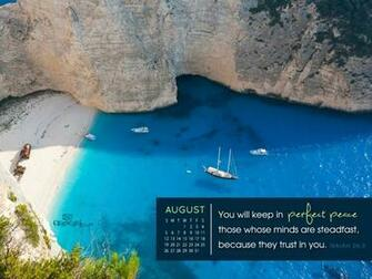 CrossCards Wallpaper Monthly Calendars August