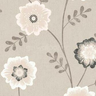 Luciana Wallpaper in Beige White and Black at GoWallpaper UK