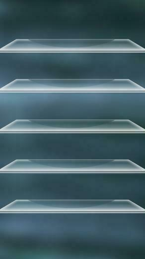 Home shelves 8 iPhone 5 wallpapers