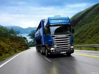 Blue Truck Scania Wallpaper Wallpaper WallpaperLepi