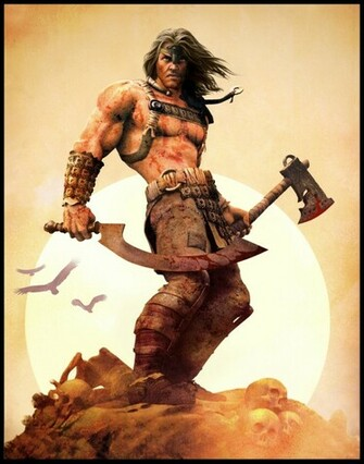 conan the barbarian 4000x5086 wallpaper Video Games Age of Conan