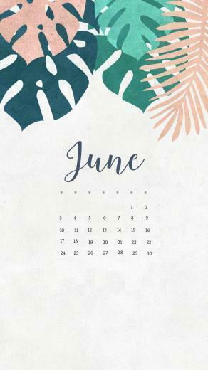 June 2018 iPhone Calendar Phone wallpapers Calendar wallpaper