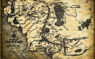 Lord of The Rings Map Wallpaper HD Wallpapers