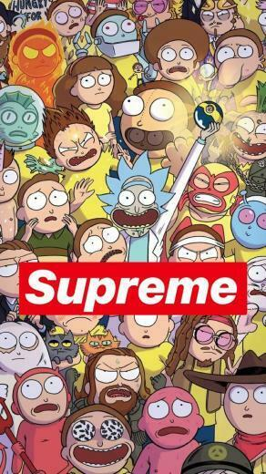 Pin by curlyyheadjavii on Supreme wallpaper Rick morty