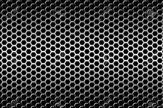Background Material Wallpaper Perforated Metal Hexagonal