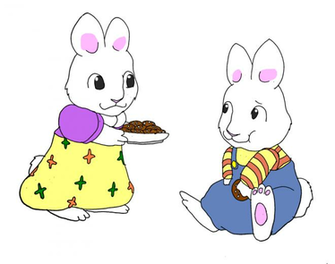 Max and Ruby snack time by Midnightflaze