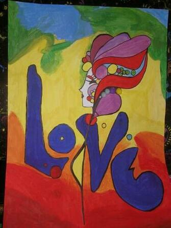 Peter Max Love copy by Luxurychoccie