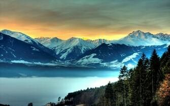 Frosty Mountains desktop wallpaper