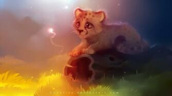 Description Cute Cheetah Wallpaper is a hi res Wallpaper for pc