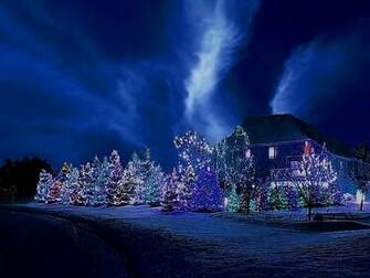 Blue Christmas Night wallpaper   ForWallpapercom