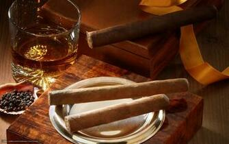 Download wallpaper Cigars box whiskey glass desktop wallpaper