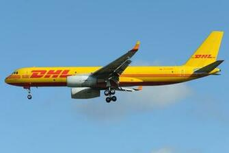 Tupolev Tu204c Dhl Cargo Air Carrier Aircraft Wallpaper   Dhl Tu