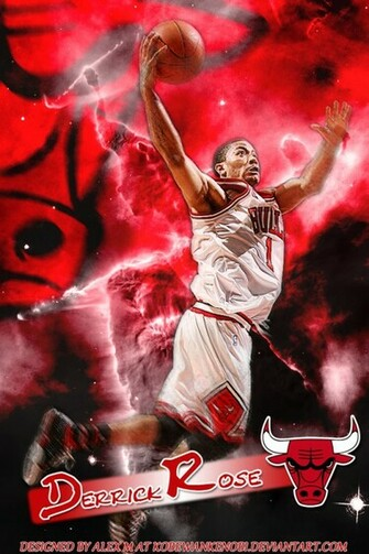 Derrick Rose iPhone Wallpaper by KobeWanKenobi