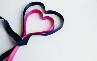 Pink And Black Ribbon Hearts 1280 x 800 Download Close