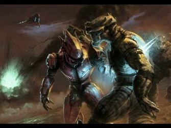 Halo Reach Elites Vs Brutes HD Wallpaper Background Images