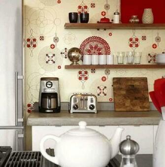 wall wallpaper design   Country kitchen wallpaper design ideas design