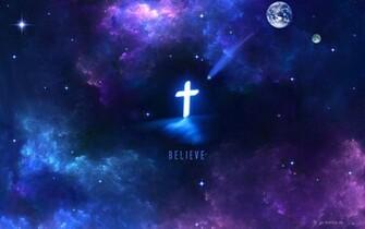 Christian Black Hole Galaxy Cross Jesus Christ Savior God Wallpaper