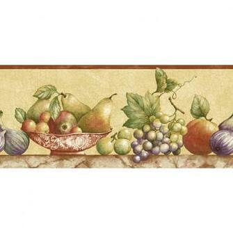 Shop Sunworthy 8 Fruit Watercolor Prepasted Wallpaper Border at Lowes
