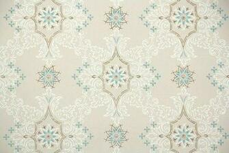1950s Geometric Vintage Wallpaper Hannahs Treasures Vintage