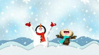 Best Winter Snow Cartoon HD Wallpaper of Winter   hdwallpaper2013com
