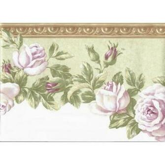 Brown Floral Wallpaper Border