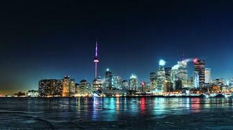 wallpaper tags toronto night city city lights share this wallpaper