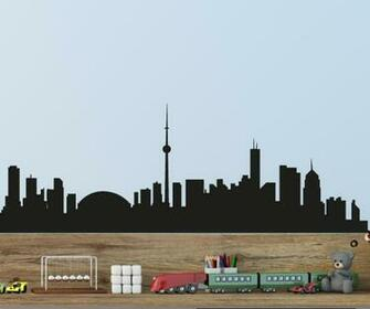 Toronto Skyline Vinyl Wall Decal or Car Sticker SS053EY 18 in