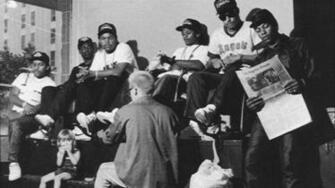 NWA Eazy E Mc REN Dr DRE Ice CUbe Old skool G Rap Hip Hop