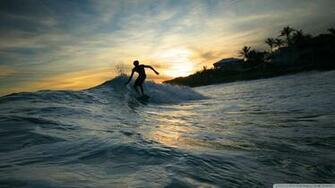 Download Surfer Silhouette Wallpaper 1920x1080 Wallpoper