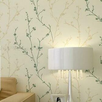 Classic Flock Textured Wallpaper Embosser Solid Tree Leaf Wall Paper