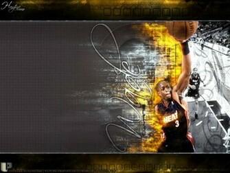Dwyane Wade Burning Dunk Wallpaper   Miami Heat Wallpaper