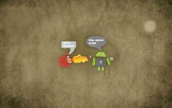 Pics Photos   Hd Funny Apple Vs Android Wallpapers Description