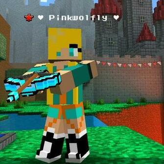 pinkwolfly pixel gun 3d skin by skyloxgame