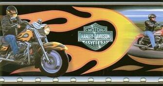 Harley Davidson Flame Wallpaper Border   Wallpaper Border