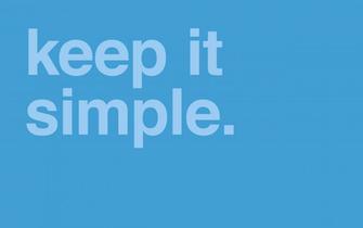 minimal desktop wallpaper keep it simple The Buzz Bin